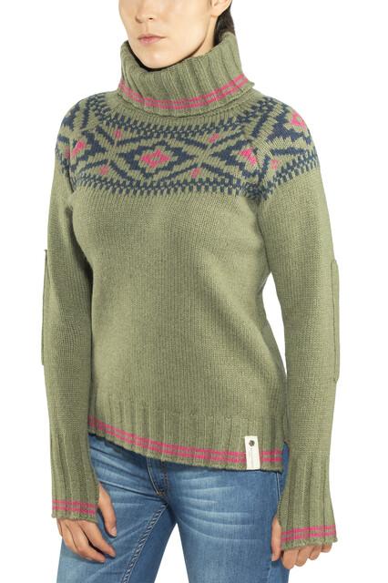 Devold W's Ona Round Sweater Lichen
